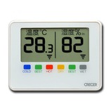 クレセル デジタルポータブル温湿度計 CR−1500W ホワイト