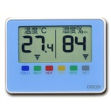 クレセル デジタルポータブル温湿度計 CR−1500B ブルー│温度計・湿度計