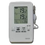 クレセル デジタルIN−OUT防滴温度計 AP−09W│温度計・湿度計