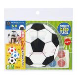 小久保工業所 おにぎりデコパック 丸型 サッカーボール KK-130 6枚入