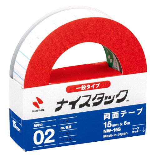 ニチバン ナイスタック 紙両面テープ小巻 15mm×6m NW-15S