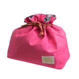 サブヒロモリ レヴィーユ コーティングランチ巾着 ピンク