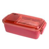 サブヒロモリ デリカタス 保冷剤付タイトランチ 1段 ピンク