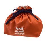 サブヒロモリ ミコノス コーティングランチ巾着 オレンジ
