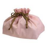 サブヒロモリ はるびより コーティング巾着 ピンク