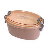 サブヒロモリ ムード 抗菌オーバルタイトランチ2段 610mL ピンク│お弁当箱 弁当箱