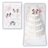 ホールマーク ディズニー ポップアップカード 結婚祝 ウェディングケーキ EAR−536−091