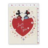ホールマーク 立体カード ディズニー ハートの上でミッキ&ミニー 620806│カード・ポストカード グリーティングカード