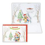 【クリスマス】ホールマーク クリスマスカード 立体 プーハグ 674984