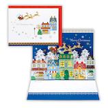 【クリスマス】ホールマーク クリスマスカード 立体カード ハッピー雪ふる街2 676162