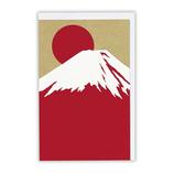 【クリスマス】ホールマーク 和風クリスマス シルクプリントカード シルク赤富士 677305