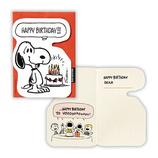 ホールマーク 誕生お祝い ミニカード スヌーピー ケーキをどうぞ 680060