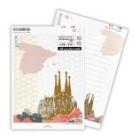ホールマーク レターパッド ワールドチケット 699994 スペイン