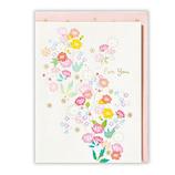 ホールマーク 多目的カード シャイニー_ウィッシーズ ピンク小花 709082│カード・ポストカード グリーティングカード