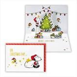 【クリスマス】ホールマーク 洋風クリスマスカード 立体 スヌーピー ツリーを飾って 710132