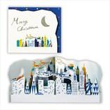 【クリスマス】ホールマーク 洋風クリスマスカード 立体ミラー ニューヨーク 710293
