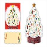 【クリスマス】ホールマーク 洋風クリスマスカード 立体 クリスタルホワイトツリー 710392