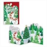 【クリスマス】ホールマーク 洋風クリスマスカード レーザーギャラリー クリスマスツリーファーム 710439