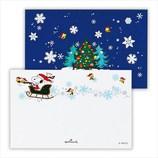 【クリスマス】ホールマーク 洋風クリスマスミニメカード スヌーピー 両面ソリ 710804