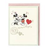 ホールマーク(Hallmark) ディズニー 多目的 立体カード 715120 ミントハートミッキー&ミニー│カード・ポストカード ウエディングカード