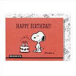ホールマーク(Hallmark) スヌーピー 誕生お祝い 立体カード 715267 レッドケーキ│カード・ポストカード バースデー・誕生日カード