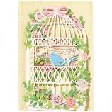 ホールマーク 誕生お祝い 立体カード 722258 LG鳥かごと花