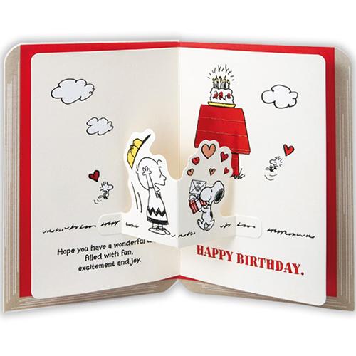 ホールマーク 誕生お祝い 立体カード スヌーピー 722494 ブック