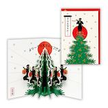 【クリスマス】ホールマーク(Hallmark) 立体グリーティングカード 時代劇 忍者 727833