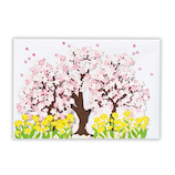 ホールマーク 立体グリーティングカード 731847 桜の木と菜の花