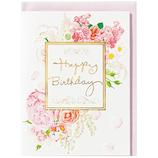 ホールマーク 誕生お祝い 立体カード ギフト・オブ・ブーケ 732301 ペールピンクブーケ