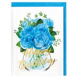 ホールマーク 誕生日グリーティングカード イン・ザ・グラス 739003 ブルーローズ