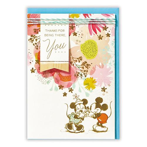 <東急ハンズ> ホールマーク グリーティングカード 誕生お祝い ディズニー 739324 フラワーミッキー&ミニー
