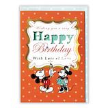 ホールマーク グリーティングカード 誕生お祝い ディズニー 739348 ペイントミッキー&ミニー