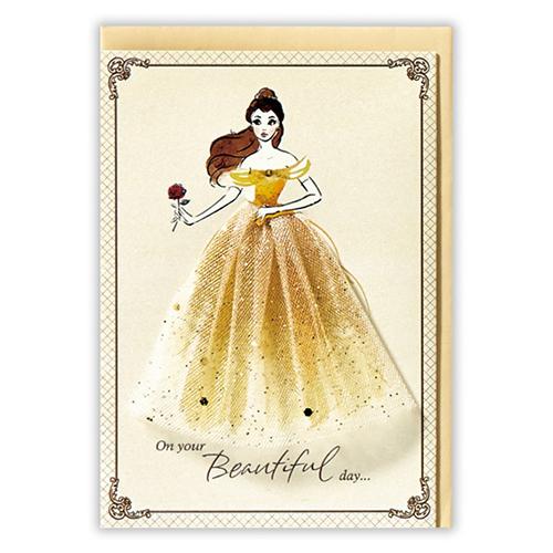 <東急ハンズ> ホールマーク グリーティングカード 誕生お祝い ディズニー 739386 ベルのドレス