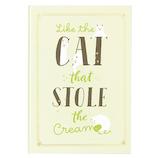 ホールマーク キャットグラフィー A5 ノートブック 739959 グリーン ごまんえつ猫