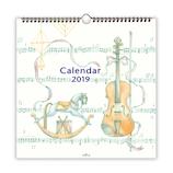 【2019年版・壁掛】 日本ホールマーク リングカレンダー大 音楽のある生活 743802