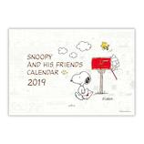 【2019年版・壁掛】 日本ホールマーク 二つ折りカレンダー大 スヌーピー ピーナッツ2019 743871