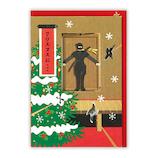 【クリスマス】 日本ホールマーク クリスマスグリーティングカード 立体時代劇 忍者どんでん返し 750527