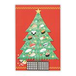 【クリスマス】 日本ホールマーク クリスマスグリーティングカード 立体和風ツリー 寿司 750534