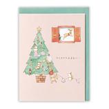 【クリスマス】ホールマーク クリスマスカード タイニー・アニマル・テイル はりねずみとツリー  750640