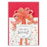 ホールマーク(Hallmark) 誕生お祝いカード 立体 フラワー・バッグ・アンド・ボックス 753719 小花ケーキ