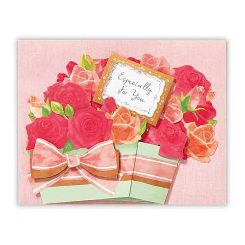 日本ホールマーク 多目的グリーティングカード 立体花香るローズ 753924