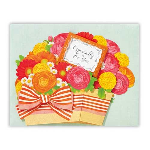 日本ホールマーク 多目的グリーティングカード 立体花香るカモミール 753948