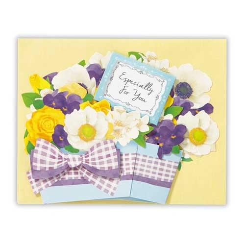 日本ホールマーク 多目的グリーティングカード 立体花香るジャスミン 754563