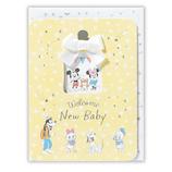 ホールマーク(Hallmark) 赤ちゃん誕生お祝いカード ディズニー 756369 銀箔みんなでお祝い
