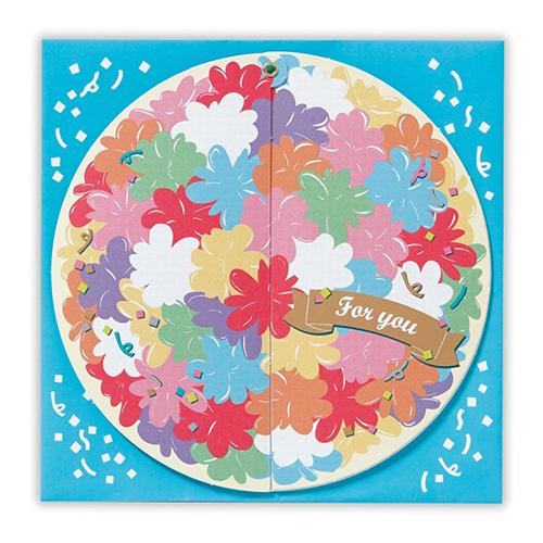 日本ホールマーク くるりんぱ色紙 くす玉花 757588