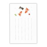 ホールマーク(Hallmark) 暑中ポストカード 和紙墨絵 759223 金魚2│カード・ポストカード ポストカード(イラスト)