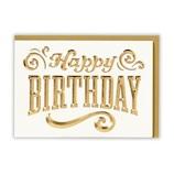 ホールマーク(Hallmark) 誕生お祝い ホールマーク・デコ 763619 箔Dエンボスバースデー│カード・ポストカード バースデー・誕生日カード
