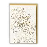 ホールマーク(Hallmark) 誕生お祝い ホールマーク・デコ 763626 レーザー箔文字バースデー