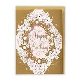 ホールマーク(Hallmark) 誕生お祝い ホールマーク・デコ 763640 ピンクレーザーフラワーアタッチメント│カード・ポストカード バースデー・誕生日カード